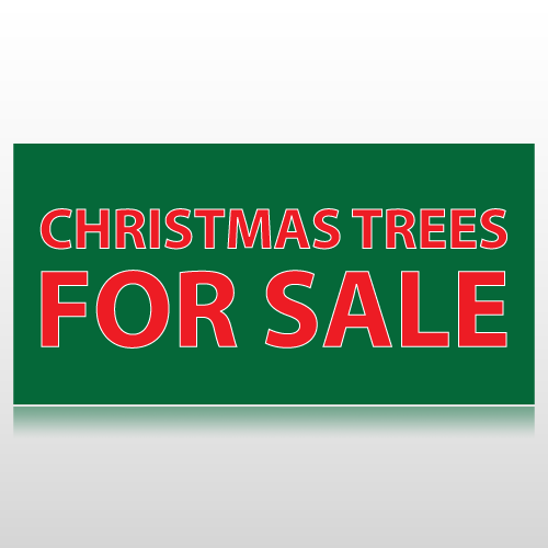 Christmas Trees For Sale Banner