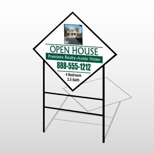 Open House 32 H-Frame Diamond Sign