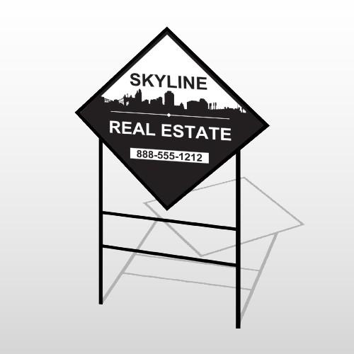 Skyline 38 H-Frame Diamond Sign