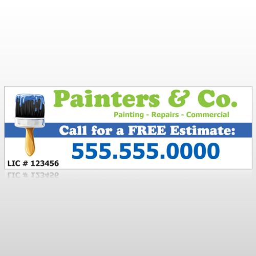 Blue Paint Brush 305 Custom Decal