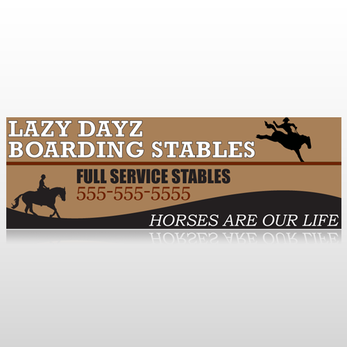 Boarding Stables 304 Custom Sign