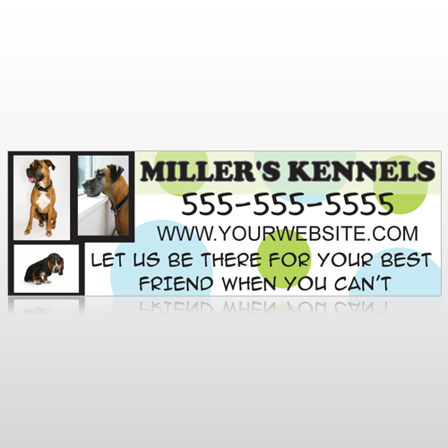 Dog Kennels 300 Custom Sign