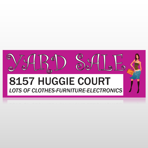 Pink Girl Sale 552 Custom Decal