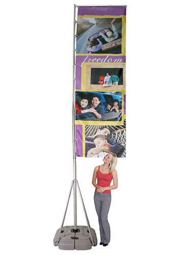 """Wind-MX Kit- Outdoor Stand and Banner 43""""W  x 144""""H"""