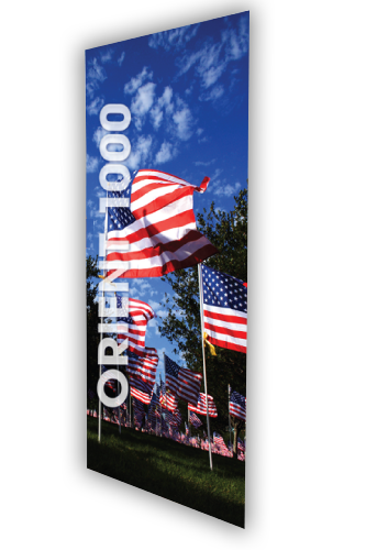 """ONT1000 Retractable Heavy Weight Banner 39.25""""W x 84""""H"""