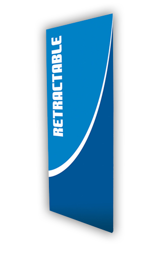 """ONT920 Retractable Anti-Curl Banner 35.5""""W x 84""""H"""