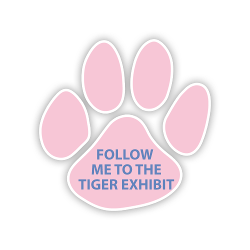 """Floor  Decal 4""""W x 4""""H Tiger Paw"""