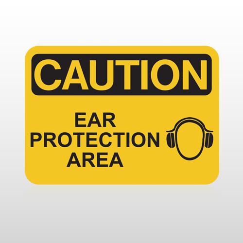 OSHA Caution Ear Protection Area