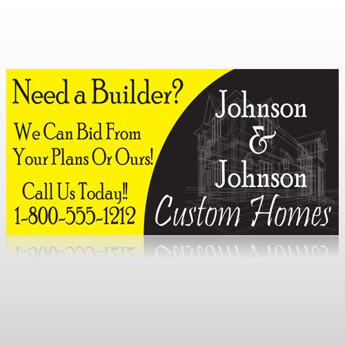 Yellow House 216 Custom Sign