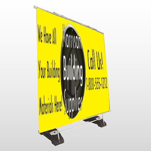 Small Black House 219 Exterior Pocket Banner Stand