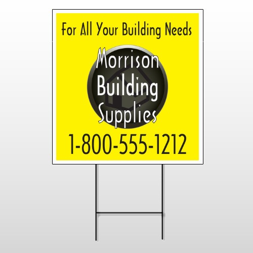 Small Black House 219 Wire Frame Sign