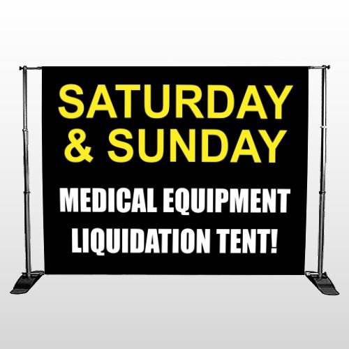 Medical Liquidators 98 Pocket Banner Stand