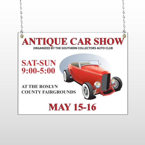 Car Show 123 Window Sign