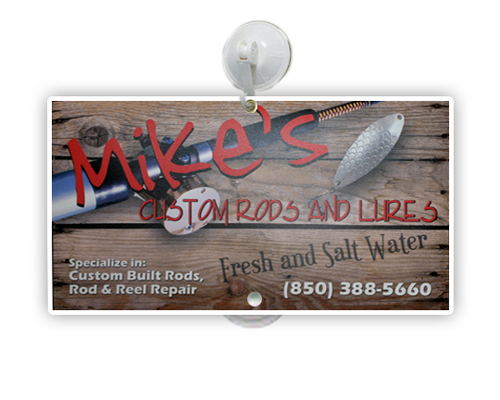 """3mm PVC  6""""H x 12""""W Suction Cup Mounted Window Sign"""