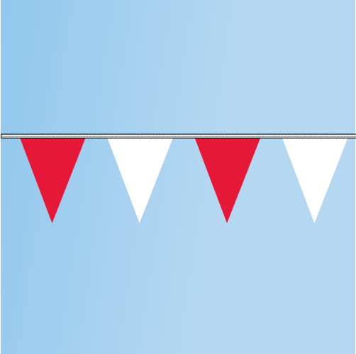 Pennant Red, White 120' String