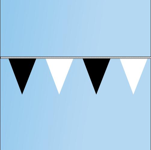 Pennant Black, White 120' String