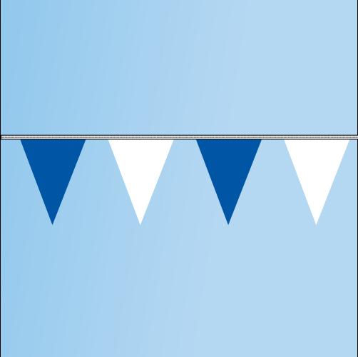 Pennant Blue, White 120' String
