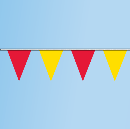 Pennant Red, Yellow 120' String