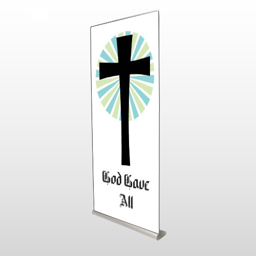 God Gave 118 Rectractable Banner Stand