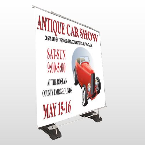 Car Show 123 Exterior Pocket Banner Stand