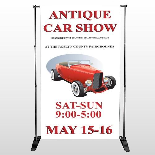 Car Show 123 Pocket  Banner Stand