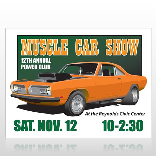 Muscle Car 124 Custom Decal