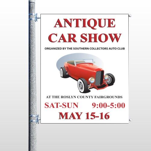 Car Show 123 Pole Banner