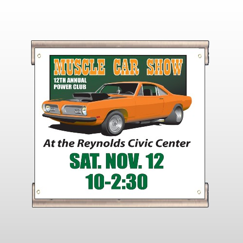 Muscle Car 124 Track Banner