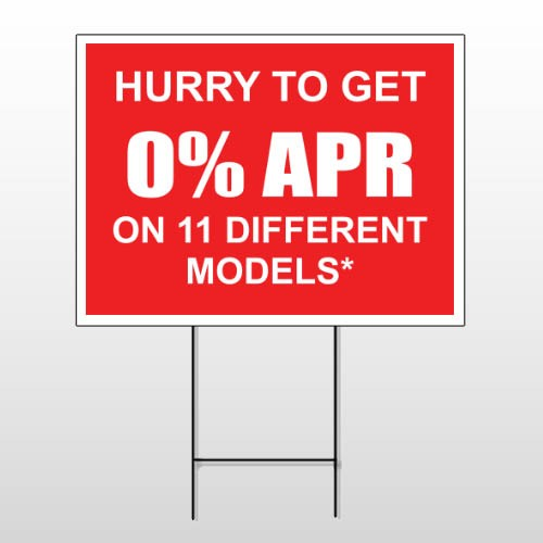 0% APR 120 Wire Frame Sign