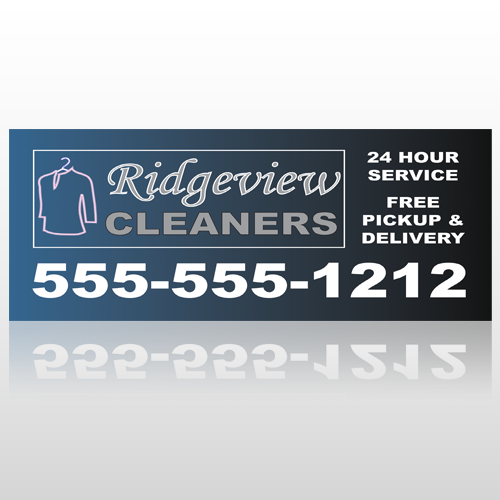 Dry Cleaners 24 Custom Banner