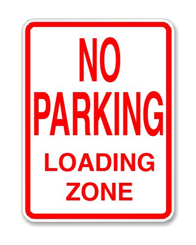 """Parking Lot Sign .080 Aluminum 12""""H x 18""""W"""