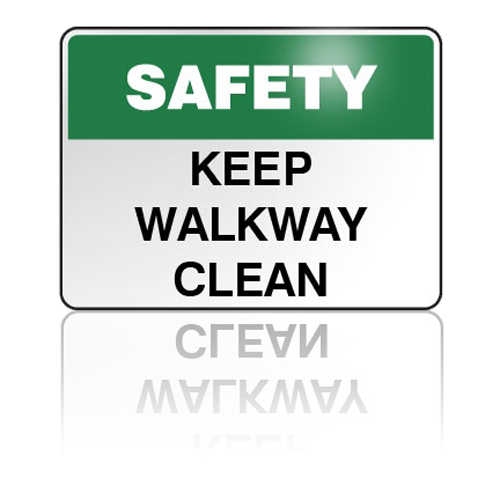 "Safety .080 Aluminum Sign 10""H x 14""W"
