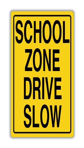 """Parking Lot Sign Poly 24""""W x 48""""H"""