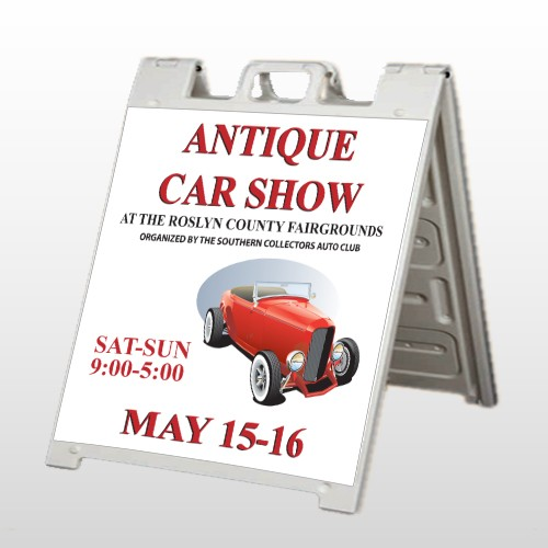 Car Show 123 A Frame Sign
