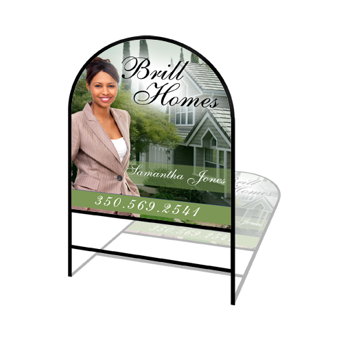 "Arched Frame and Rigid Board Sign Kit 24""W x 30""H"