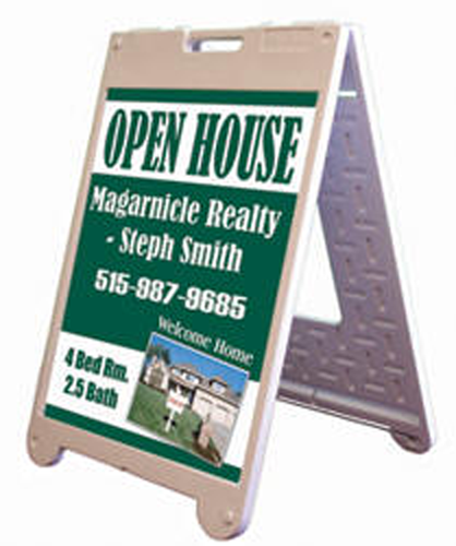 """A Frame and Corrugated Sign Kit 22""""W x 28""""H"""