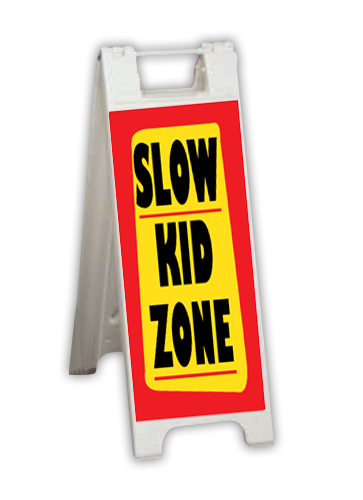 """A Frame and Corrugated Sign Kit-White 12""""W x 24""""H"""