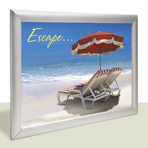 "Edgelit Lightup Display Kit & Media 34""W x 48""H"