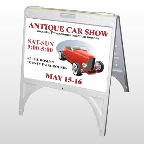 Car Show 123 A Frame Sign