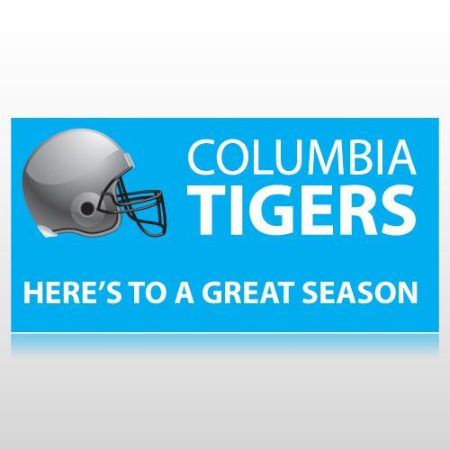 Football Helmet School Banner