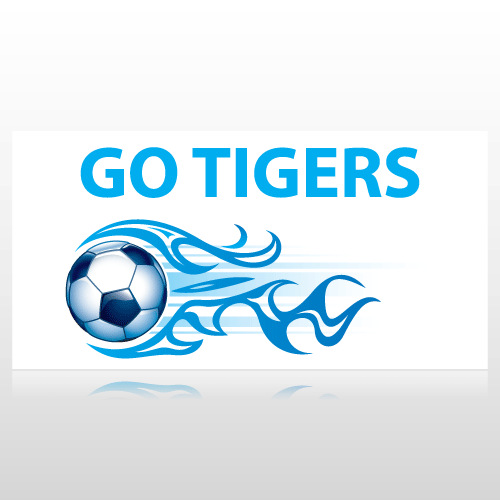 Go Tigers Soccer Banner