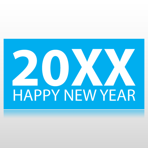 Happy New Year Banner With Year