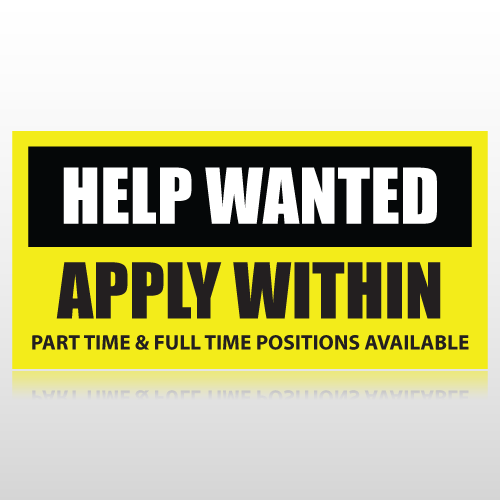 Help Wanted Apply Within Banner