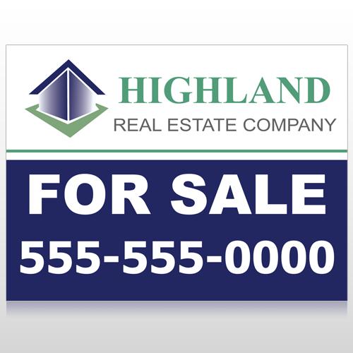 For Sale Blue House 133 Custom Sign