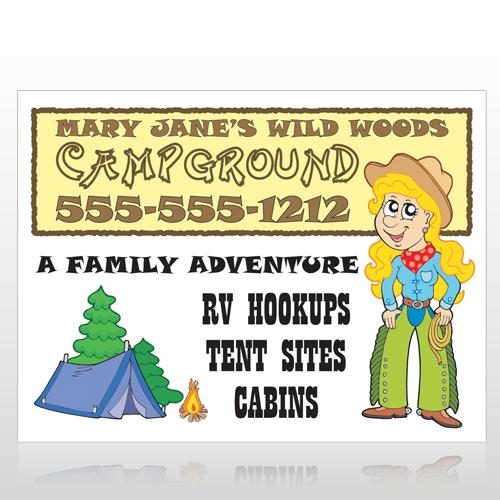 Campground 144 Custom Sign