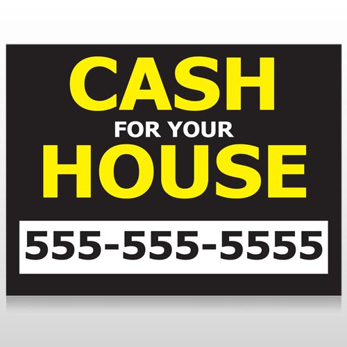 Cash For House 107 Custom Sign