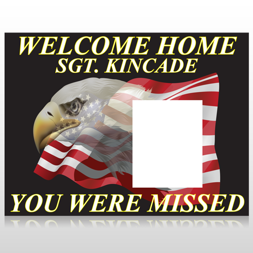 Eagle Flag 307 Custom Sign