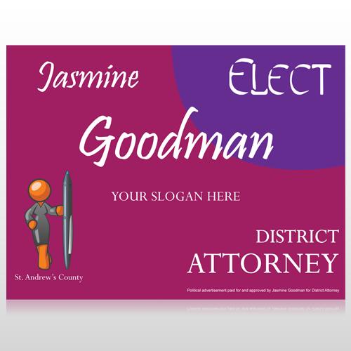 Elect Attorney 279 Custom Sign