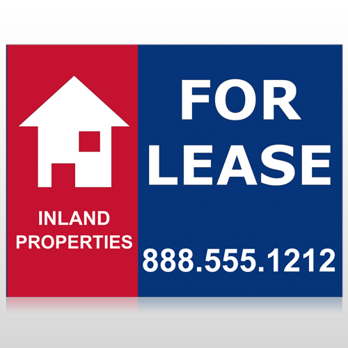 For Lease 2 Custom Sign