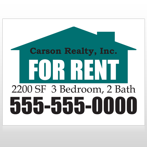 For Rent 125 Custom Sign
